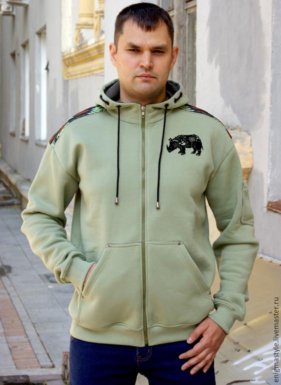 Camouflage sweatshirt ARMA, men's hoodie with zipper and hood, Sweatshirts for men, Novosibirsk,  Фото №1