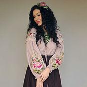 handmade. Livemaster - original item Embroidered women`s costume