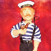 Куклы и игрушки ручной работы. Ярмарка Мастеров - ручная работа куклы на заказ по фотографии МОРЯК. Handmade.