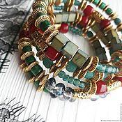 Украшения handmade. Livemaster - original item A bracelet made of beads: Multi-row bracelet Tales of the East. Handmade.