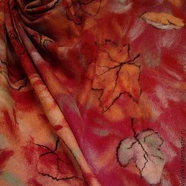 Аксессуары ручной работы. Ярмарка Мастеров - ручная работа Палантин валяный Осенний вальс. Handmade.