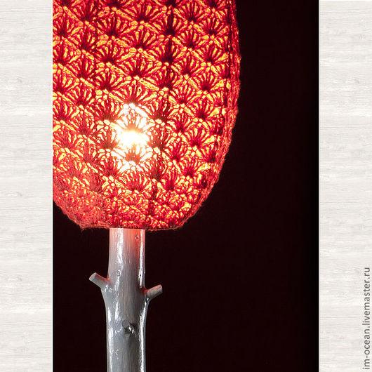 Освещение ручной работы. Ярмарка Мастеров - ручная работа. Купить Настольная лампа / ночник. Handmade. Коралловый, ночник, дерево