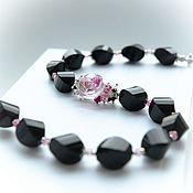 Украшения handmade. Livemaster - original item Choker necklace made of agate, rose quartz, ruby, garnet. Handmade.