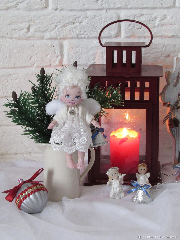 Dolls and dolls: textile doll Winter angel, Dolls, Trehgornyi,  Фото №1