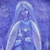 Картины и панно ручной работы. Ярмарка Мастеров - ручная работа Картина ангел. Благовест.Вечер, молитва.. Handmade.