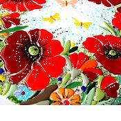 Для дома и интерьера ручной работы. Ярмарка Мастеров - ручная работа столик для чайных церемоний Маковое поле. Handmade.