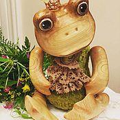 Куклы и игрушки ручной работы. Ярмарка Мастеров - ручная работа Лягушка деревянная. Handmade.