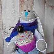Куклы и игрушки ручной работы. Ярмарка Мастеров - ручная работа Заяц сладкоежка.. Handmade.