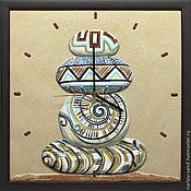 """Для дома и интерьера ручной работы. Ярмарка Мастеров - ручная работа """"Созерцание"""" часы из песка. Handmade."""