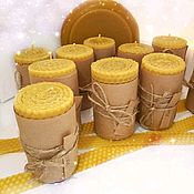 Свечи ручной работы. Ярмарка Мастеров - ручная работа Свечи из вощины с эфирными маслами. Handmade.