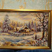 Картины и панно ручной работы. Ярмарка Мастеров - ручная работа Зимний вечер. Handmade.