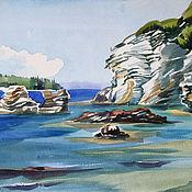 """Картины и панно ручной работы. Ярмарка Мастеров - ручная работа Акварель """"Ионическое море"""". Handmade."""