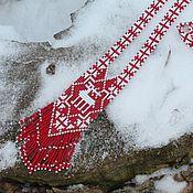 """Украшения ручной работы. Ярмарка Мастеров - ручная работа Гайтан """"Норвежские узоры"""" (с Оленем). Handmade."""