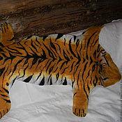 Для дома и интерьера ручной работы. Ярмарка Мастеров - ручная работа Шкура Тигра (валяная). Handmade.