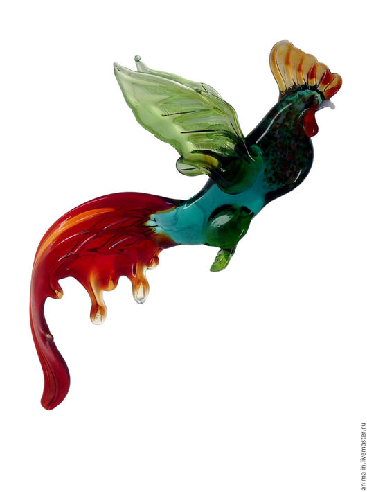 Interior Items handmade. Livemaster - handmade. Buy Interior hanging decoration stained glass bird Rooster Rowdy.Cock, watch