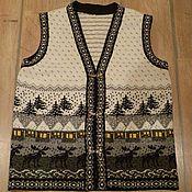 Одежда ручной работы. Ярмарка Мастеров - ручная работа Жилетка ручной работы, связанная из натуральной шерсти. Handmade.