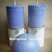 """Сувениры и подарки ручной работы. Ярмарка Мастеров - ручная работа """"Лаванда"""" эко-свечи. Handmade."""