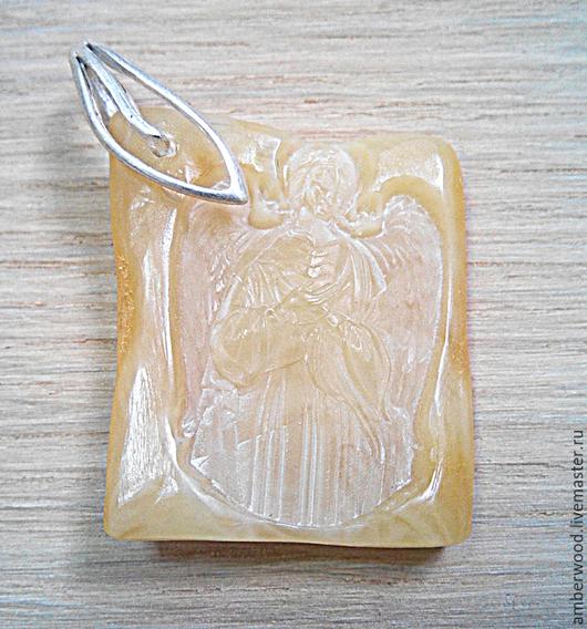 Кулоны, подвески ручной работы. Ярмарка Мастеров - ручная работа. Купить Ангел Хранитель. Handmade. Балтийский янтарь, ангел, резьба