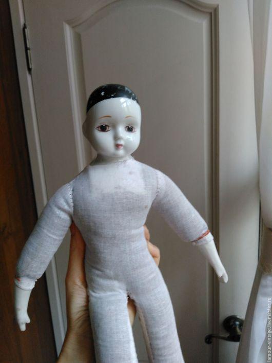 """Винтажные куклы и игрушки. Ярмарка Мастеров - ручная работа. Купить Старинная кукла """"Большой Пьеро"""" (XIX в., фарфор, Австрия). Handmade."""