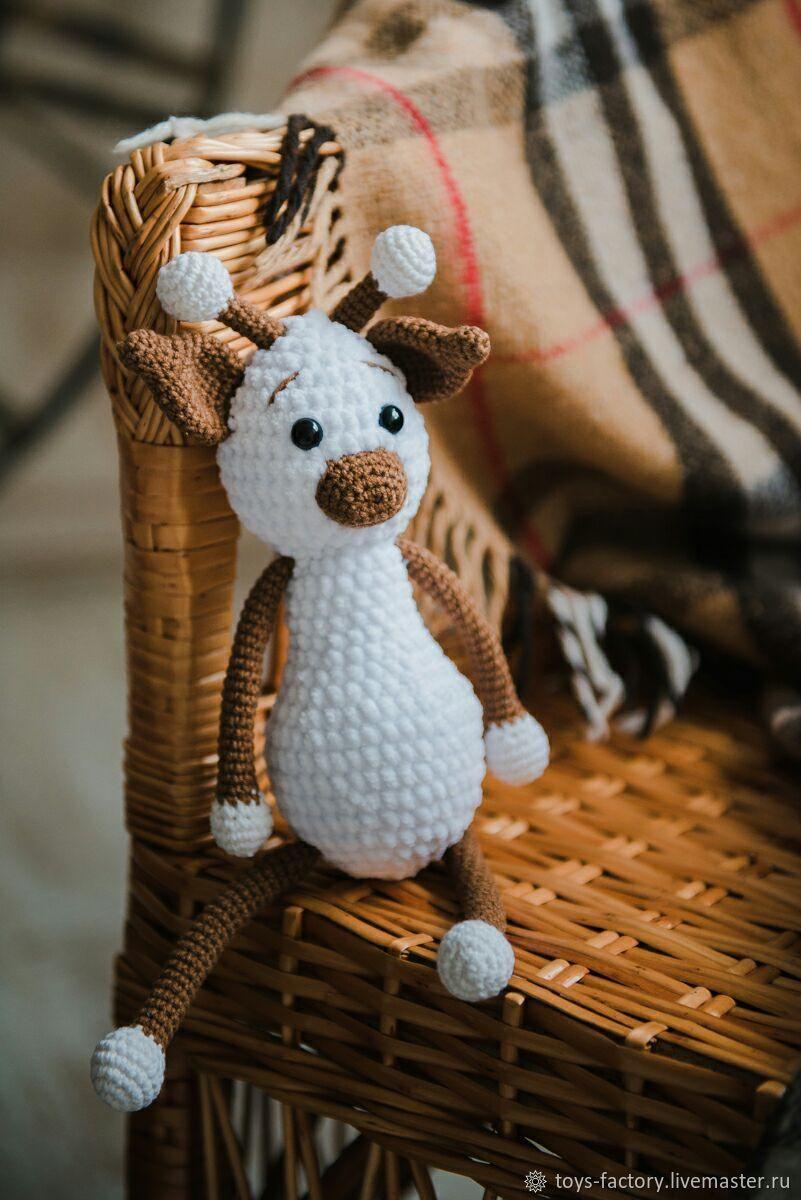 Жираф, мягкая игрушка, вязаная игрушка жираф, Мягкие игрушки, Одесса,  Фото №1