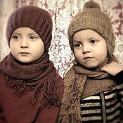 Работы для детей, ручной работы. Ярмарка Мастеров - ручная работа Шапка с шарфом. Handmade.