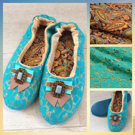 Обувь ручной работы. Ярмарка Мастеров - ручная работа. Купить Балетки (модель9). Handmade. Комбинированный, Тапочки ручной работы, флис