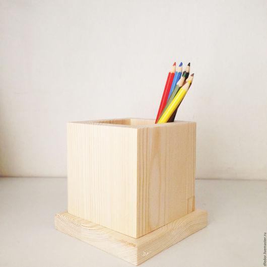 Деревянная заготовка карандашницы