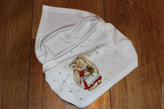 """Повязки ручной работы. Ярмарка Мастеров - ручная работа. Купить платок молочного цвета """"Зайка"""". Handmade. Белый, косынка"""