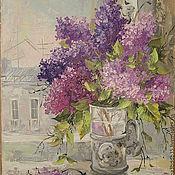 Картины и панно handmade. Livemaster - original item Lilac morning. Handmade.
