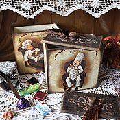 """Для дома и интерьера ручной работы. Ярмарка Мастеров - ручная работа """" Повара""""коробы. Handmade."""