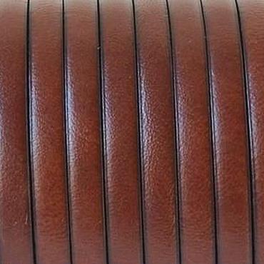 Материалы для творчества ручной работы. Ярмарка Мастеров - ручная работа Кожаный шнур 5х2мм коричневый. Handmade.