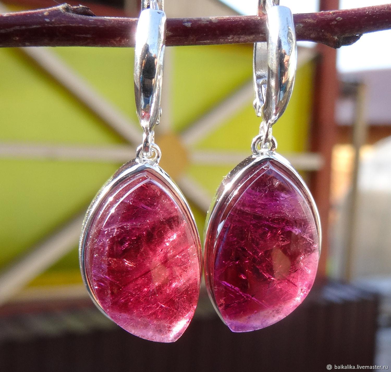 March ' Earrings with Tourmaline', Earrings, Irkutsk,  Фото №1