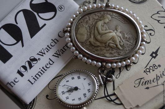 """Винтажные украшения. Ярмарка Мастеров - ручная работа. Купить Винтажные часы - брошь """"Victorian Beauty"""", 1928, редкие. Handmade. Часы"""