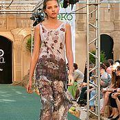 Платья ручной работы. Ярмарка Мастеров - ручная работа летнее платье Цветы Парижа. Handmade.