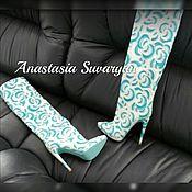 Обувь ручной работы handmade. Livemaster - original item Boots with floral print. Handmade.