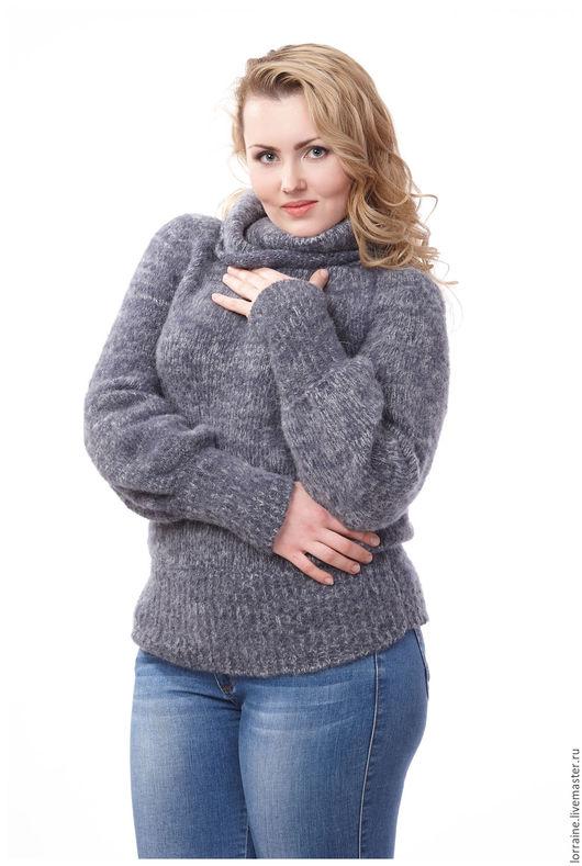 вязаный свитер, свитер вязаный, шерстяной свитер, свитер шерстяной, свитер из шерсти, свитер с горлом, трикотажный свитер, женский вязаный свитер, большие размеры, мода для полных, вязаная одежда
