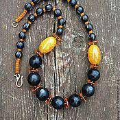 Украшения handmade. Livemaster - original item Beads with yellow agate. Handmade.