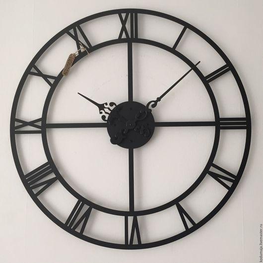 """Часы для дома ручной работы. Ярмарка Мастеров - ручная работа. Купить Часы 80см """"Roman rist-2"""". Handmade. Черный"""