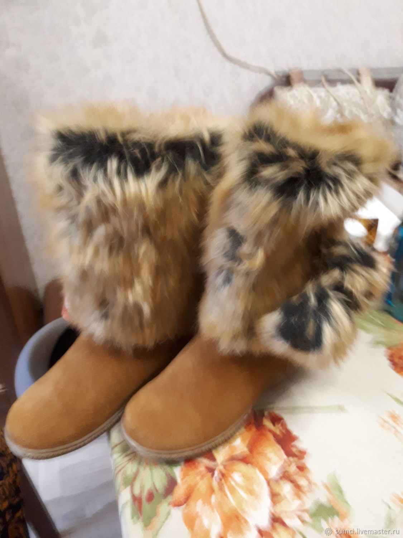 Обувь ручной работы. Ярмарка Мастеров - ручная работа. Купить Унты натуральная замша. Handmade. Валенки, унты женские
