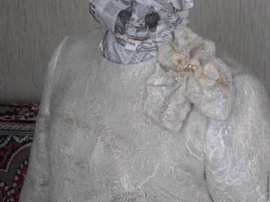 """Кофты и свитера ручной работы. Ярмарка Мастеров - ручная работа. Купить валяная туника  """" Пломбир"""". Handmade. Абстрактный"""