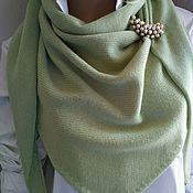 Аксессуары handmade. Livemaster - original item 100% Merino pistachio scarf.. Handmade.