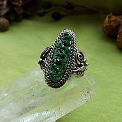 Фен-шуй и эзотерика handmade. Livemaster - original item Ring uvarovite. Handmade.