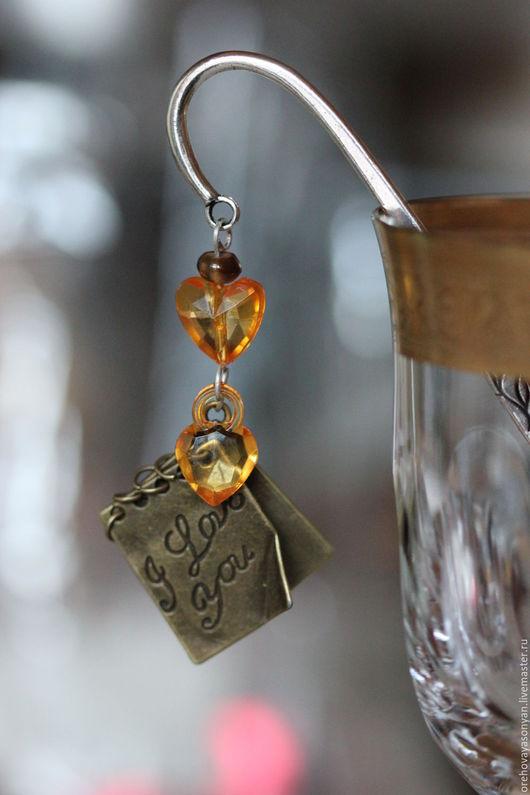 """Закладки для книг ручной работы. Ярмарка Мастеров - ручная работа. Купить Закладка """"Любовные записки"""". Handmade. Оранжевый"""