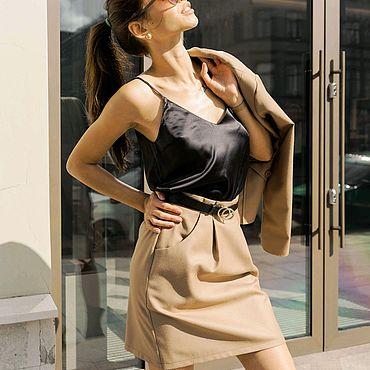 Одежда ручной работы. Ярмарка Мастеров - ручная работа Топ из итальянского шелка. Handmade.