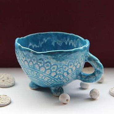 Посуда ручной работы. Ярмарка Мастеров - ручная работа Чашка Вода. Handmade.
