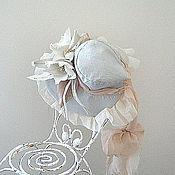 Куклы и игрушки handmade. Livemaster - original item Hat, bonnet, vintage style, doll. Handmade.