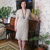Одежда handmade. Livemaster - original item dress Linen summer. Handmade.