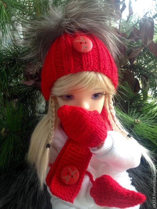 """Одежда для кукол ручной работы. Ярмарка Мастеров - ручная работа. Купить Комплект """"Красный"""". Одежда для кукол.. Handmade. Ярко-красный"""