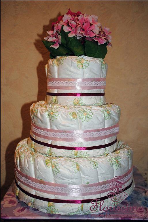Тортик из подгузников(74шт)