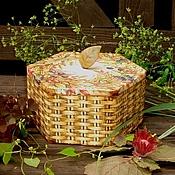 """Для дома и интерьера ручной работы. Ярмарка Мастеров - ручная работа Короб """"Первый лист осенний"""". Handmade."""
